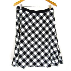 Ann Taylor Black & White Checked Skirt